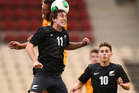 Louie Fenton of New Zealand in action during the Under 20 International friendly match between the Australian Young Socceroos and the New Zealand Junior All Whites. Photo / Getty Images.