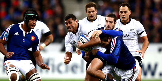 Charles Piutau of the All Blacks is tackled during the international test match between France and the New Zealand All Blacks. Photo / Getty Images.