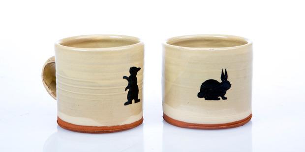 Paul Maseyk mugs, $46 each from Annex. Photo / Babiche Martens.