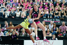 Casey Kopua in action against Australia in the Fast5 World Series final. Photo / Richard Robinson