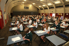 Otumoetai College students packed out the school hall for the first major exam of the year, NCEA Level 1 English.