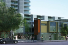 The 16-storey apartment towers, shown here in an architect's impression, would be built around Milford Mall.