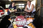 Navigator Jimmy Fogan and jetsprint driver Tristan Hynds are looking forward to racing his new boat in Baypark stadium.