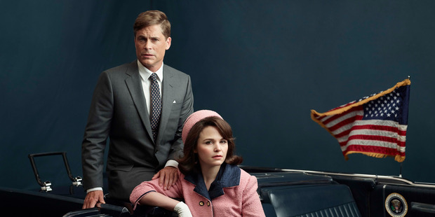 Rob Lowe and Ginnifer Goodwin in Killing Kennedy.