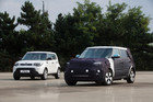The electric Kia Soul (right) will be sold outside South Korea for the first time next year.