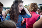 Kiwi superstar Lorde at Belmont Intermediate School in Auckland. Photo / Sarah Ivey