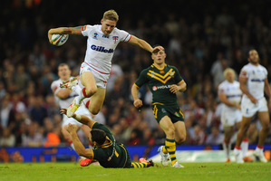English superstar Sam Tomkins was inspired by Alfie Langer. Photo / Getty Images