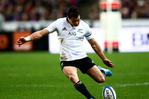 Dan Carter has defied age and a run if serious injuries to stand on the verge of his 100th cap. Photo / Getty Images
