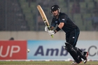 Nathan McCullum hit 32 from nine balls to lead New Zealand to an unlikely victory in the second ODI against Sri Lanka. Photo / AP