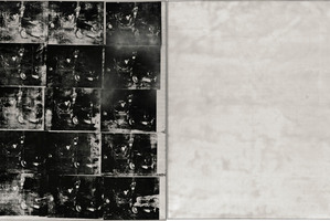 This photo provided by Sotheby's shows 'Silver Car Crash (Double Disaster)' by Andy Warhol.