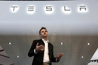 In this Tuesday, Jan. 15, 2013, file photo, Franz von Holzhausen, Chief Designer, Tesla Motors speaks at media previews for the North American International Auto Show in Detroit. Photo / AP