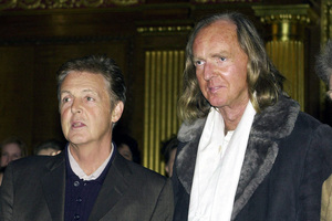 Sir Paul McCartney with British composer Sir John Tavener who has died at the age of 69. Photo / AP
