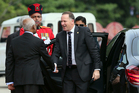 John Key arrives at the opening ceremony of the Commonwealth Heads of Governments meeting. Photo / AP