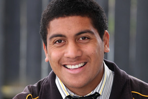 Gafatasi Fuimaono feels 'pretty happy' about how his Level 1 English exam went yesterday after doing lots of swot. Photo / Chris Gorman