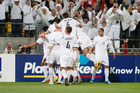 The All Whites' last big payday was a $10 million nest egg from reaching the South Africa World Cup in 2010 after they beat Bahrain 1-0 at Westpac Stadium in November 2009. Photo / Mark Mitchell