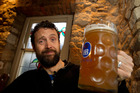 Jon Bridges has a German beer at the Hahndorf Inn Hotel in Hahndorf, Australia's oldest surviving German settlement. Photo Richard Robinson