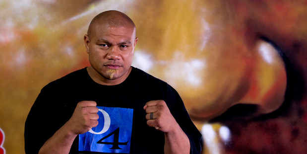 Boxer David Tua at his gym in Onehunga. Photo / Dean Purcell