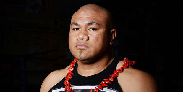 Boxer David Tua. Photo / Andrew Cornaga