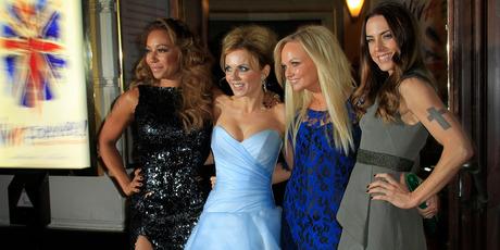 Spice Girls (l-r) Mel B, Geri Halliwell, Emma Bunton and Mel C.Photo / AP