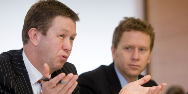 Labour's David Cunliffe with Green's Russell Norman. Photo / NZPA