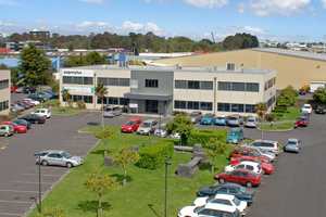 The Lambie Drive, Manukau, building is being refurbished for Paper Plus.