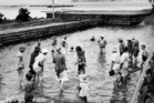 Paddling in the Pool at Rangitoto Island, c1935. Photo / NZ Herald Archive