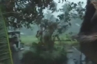 A home video camera caught the power of Typhoon Haiyan as it hit Leyte province in the Philippines. Storm survivor Michelle Veloso gives an eyewitness account.