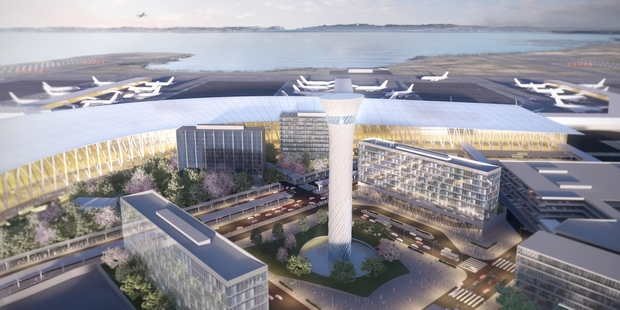 Concept design for a new Auckland International Airport.