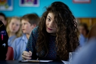 Lorde takes a a break from super-stardom to return to Belmont Intermediate School. Photo / Sarah Ivey
