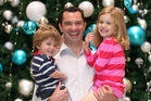 Ian Forrester of Plan.B with his children Murdoch, 2, and Imogen, 4. Photo / Chris Gorman