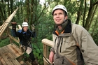 James Fitzgerald (right) and Andrew Blackford have had 11,000 people take their forest canopy tour. Photo / APN