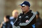 Neville Carter watches the All Blacks training session at Latymer Upper School in London. Photo / Getty Images