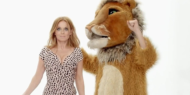 Geri Halliwell appears in the video for her new single, Half of Me. Photo / YouTube