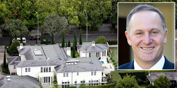 Prime Minister John Key and his family mansion in St Stephen's Ave, Parnell. Photo / Doug Sherring