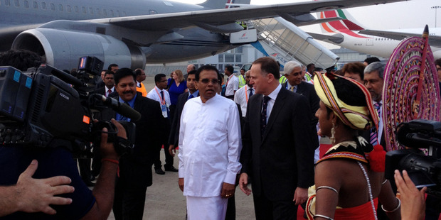 Prime Minister John Key in Sri Lanka for the biennial Commonwealth Heads of Government meeting. Photo / Claire Trevett