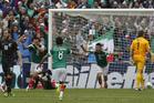 Mexico's Raul Jimenez, center, celebrates after scoring. Photo / AP
