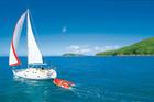 Sailing past Perseverance and Dungurra islands.