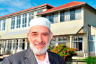 Al-Noor Charitable Trust chairman Mohammad Alayan outside the proposed An-Nur Kiwi Academy in South Dunedin. Photo / Linda Robertson