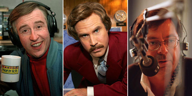 Alan Partridge, Ron Burgundy and Leighton Smith. Photos / Getty Images, NZ Herald