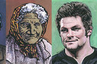 Dick Frizzell's paintings of some of our greatest New Zealanders.