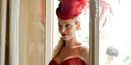 Uma Thurman in the new Campari calendar. Photo / Campari