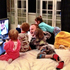 Kim Dotcom watching music videos with his children at their home in Coatesville. Photo / twitter.com/KimDotcom