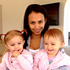 Kim Dotcom's wife Mona with their twins. Photo / twitter.com/KimDotcom