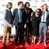 Anika Moa with the Phoenix Foundation on the red carpet. Photo / Dean Purcell