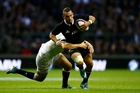 Aaron Cruden showed composure at Twickenham. Photo / Getty Images
