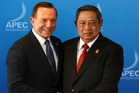 President Susilo Bambang Yudhoyono has expressed his outrage in a series of Bahasa language tweets. Photo / AP