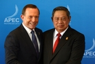 Tony Abbott with Susilo Bambang Yudhoyono.