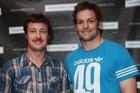 Robert Dunne and Richie McCaw taking part in Movember. Photo / Norrie Montgomery