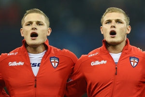 England league players George (left) and Tom Burgess. Photo / Getty Images