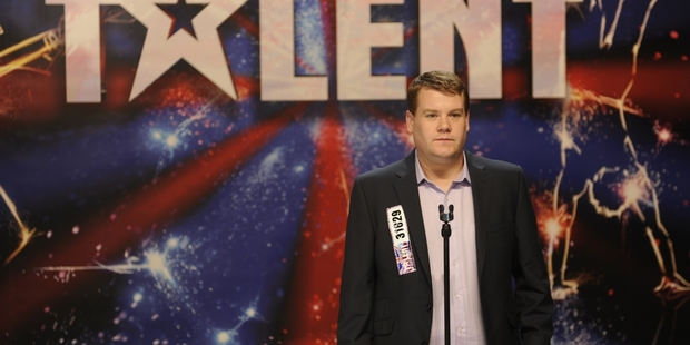 The talented James Corden plays Paul Potts.